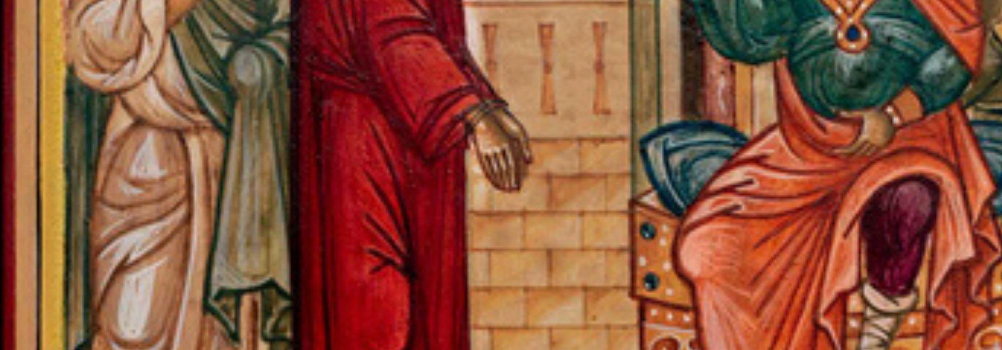 1.MärzHeader - Jesus sind die Hände gebunden.