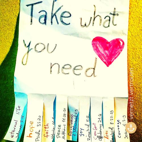 1.4. - Nimm dir, was du für diesen Tag brauchst.